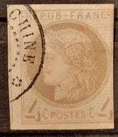 Emissions Générales 1872/77 N°16 Ob Légèrement Touché à Droite B  Cote 720€ - Ceres