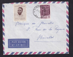 DDZ001 - Enveloppe Par Avion TP KATANGA 8 F Elisabethville 1962 Vers BRUXELLES - TTB Vignette Moise Tshombé - Katanga