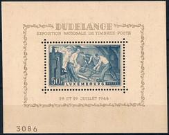 Bloc Exposition Nationale Du Timbre Dudelange  Neuf MNH **  Luxembourg 1946 - Non Classés