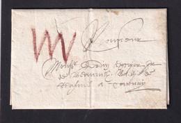 DDZ003 - Lettre Précurseur MONS 1699 Vers TOURNAY - RARE Port élevé Et Texte Complet En 2 Pages - 1621-1713 (Spanish Netherlands)