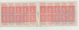 """Carnet N°199-C21 Avec 20 Timbres Semeuse 50C Pub  """"Bussang """"(Timbres Neufs Collés Sur La Couverture) - Reclame"""