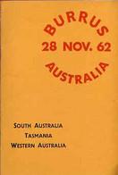 Auction Catalogue - Australia With South Australia, Tasmania Western Australia Robson Lowe 28Nov 1962 Burrus - Other