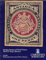 Auction Catalogue - Antigua - Christie's 12 Dec 1990 - The E V Toegg Coll - Cat Only - Other