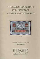 Auction Catalogue - Airmails - Harmers 16 Dec 1993 - The Jack C Boonshaft Coll - With Prices Realised - Other