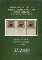 Auction Catalogue - Australia & Papua - Harmers 21-22 July 1993 - With Prices Realised - Other