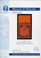 Auction Catalogue - Bermuda & Leeward Keyplates - Warwick & Warwick  2 Oct 1996 - Mario Zappa - Cat Only - Other