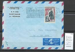 Reunion - Lettre SAINT DENIS Avec Flamme - 1966 - Storia Postale