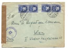 Ung263 / UNGARN - Postreiter Als Mehrfachfrankatur 1946 Nach Wien - Briefe U. Dokumente