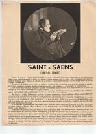 Ancien PROGRAMME  HOMMAGE Camille SAINT -SAENS/église NOTRE DAME Du HAVRE/psaume,le Déluge - Programmes