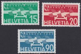 SUISSE, 1932,  Conférence Du Désarmement (Yvert 16-17-18) - Nuevos