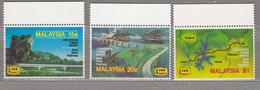 MALAYSIA 1983 Road Map Bridge MNH(**) Mi 262-264 #27550 - Malaysia (1964-...)