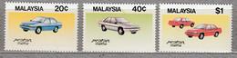 MALAYSIA 1985 Transport Cars Proton MNH(**) Mi 308-310 #27552 - Autos