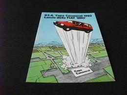 AUTO CAR VOITURES COCHE UNO PUBBLICITARIA FIAT USA CAPE CANAVERAL 1983 LANCIO DELLA FIAT UNO ILL. TORRE - Pubblicitari