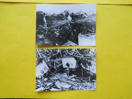 Photo  ,TRAMWAY FINISTERE , Collection Bourneuf ,lire Descriptif  , Destruction Du Dépôt De BREST - Treni