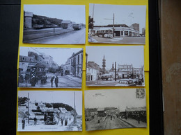Photo  ,TRAMWAY FINISTERE , Collection Bourneuf ,lire Descriptif  ,BREST Terminus Trolleybus - Trains