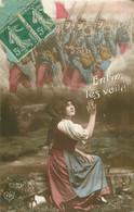 Lot 10 X Cpa MILITAIRES. Guerre 1914-18 Soldat, Fiancée, Armes, Patriotique, Drapeau, Armée... - War 1914-18