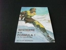 PIN UP SESTRIERE E LA FORMULA I 1983 SCI CLUB SESTRIERE PIEMONTE - Pin-Ups