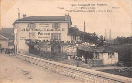 Port De FRANS Par Villefranche-sur-Saône - Café-Restaurant Des Platanes Grillon, Polosse Succes. - Le Verso Sert De Note - Other Municipalities