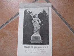 Immagine Del SACRO CUORE Di Gesù Che Si Venera Nell'Ospizio Pio Monte Misericordia CASAMICCIOLA Ischia - Devotieprenten