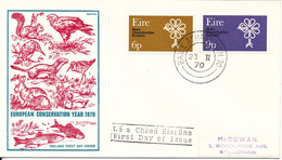 Ireland FDC 23-2-1970 European Conservation Complete Set Of 2 With Cachet - FDC
