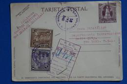 R23 SALVADOR BELLE CARTE 1940   POUR NEW YORK C. USA+ HORA FILATELICA + AFFRANCH PLAISANT - El Salvador