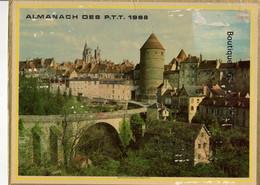 Calendrier Grand Format 1968 Almanach Des PTT Semur En Auxois Ville Cote D Or Batiment Edifice - Big : 1961-70