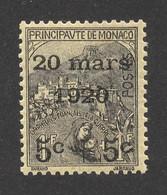 N° 37 ** Surchargé Mariage De La Princesse Charlotte, Cote 2021 Y&T : 110 Euros. - Unused Stamps