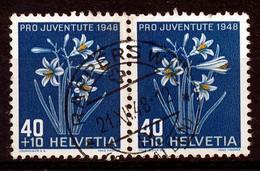 """HELVETIA - Mi Nr 517 (paar/paire) - Stempel """"RAPPERSWIL""""  - (ref. 3278) - Oblitérés"""