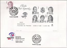 SPANIEN 1984 Mi-Nr. Block 27 Schwarzdruck FDC - Commemorative Panes