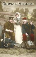Lot 10 X Cpa MILITAIRES. Guerre 1914-18 Soldat, Fiancée, Armes, Patriotique, Drapeau, Armée. Pour Ou Par Arnouville - War 1914-18