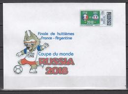 Soccer / Football / Fussball - WM 2018:  Frankreich  Brief  M. Onlinemarke - Achtelfinale - 2018 – Rusia