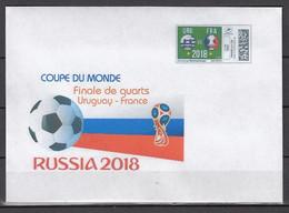 Soccer / Football / Fussball - WM 2018:  Frankreich  Brief  M. Onlinemarke - Viertelfinale - 2018 – Rusia