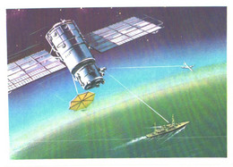 V.Viktorov:Space Ship, Ship And Airplane Connection, 1974 - Space