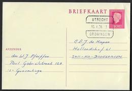 Blokstempel: Utrecht-Groningen - Laatste Dag - Storia Postale
