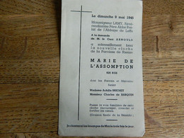 RIENNE: BENEDICTION DE LA CLOCHE MARIE DE L'ASSOMPTION LE DIMANCHE 9 MAI 1948 - Imágenes Religiosas