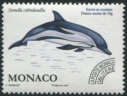 MONACO Préo 114 ** MNH Stenella Dauphin Blanc Et Bleu - Prematasellado