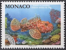 MONACO Préo 116 ** MNH Poisson Rascasse - Prematasellado