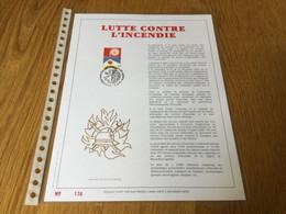 Belgique : N°2473 Lutte Contre L'incendie Sur Feuillet Or - Covers & Documents