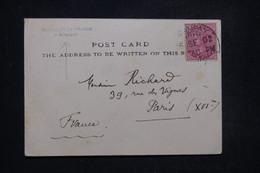 INDE - Cachet Du Consulat De France De Bombay Sur Carte Postale (Attelage)  En 1902 Pour La France - L 96906 - 1882-1901 Empire