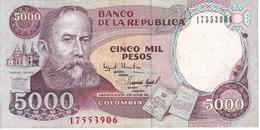 BILLETE DE COLOMBIA DE 5000 PESOS DE ORO DEL AÑO 1994  (BANK NOTE) - Colombia