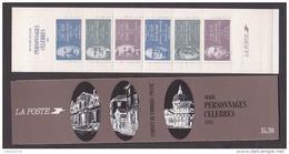 """FRANCE / 1987 / Y&T N° 2454a/2459a ** En Carnet Ou BC2460 ** (Bande-carnet """"Personnages Célèbres 1987"""") Non Pliée X 1 - People"""