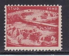Croatia Yugoslavia 1930's Plitvica Lakes Nature Student Charity Tax Surchage Label Cinderella Stamp - Beneficenza
