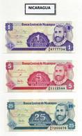 Lotto 3 Banconote Nicaragua - Nuove - Vedi Foto - (FDC30015) - Nicaragua