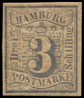 ALL.  HAMBOURG Poste * - 4, Belles Marges, Pleine Gomme, Signé Brun: 3s. Bleu-vert - Cote: 75 - Hamburg (Amburgo)