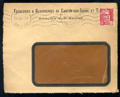 1924   Marcophilie - Pub - Féculeries & Glucoseries De Chalon Sur Saone  29-10-1946  N°-3113 - Publicités