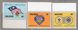 MALAYSIA 1982 Flag Scouting MNH(**) Mi 234-236 #27554 - Malaysia (1964-...)