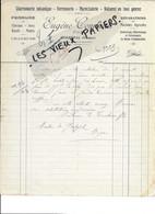 88 - Vosges - GERBEPAL - Facture COMBEAU - Charronnage, Ferronnerie, Maréchalerie, Etc - 1925 - REF 187A - 1900 – 1949