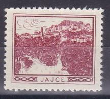 Bosnia Yugoslavia 1930's Jajce Croatia Student Charity Tax Surchage Label Cinderella Stamp - Beneficenza