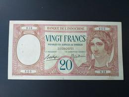 INDOCHINE 20 FRANCS 1926 DJIBOUTI.CRAQUANT/CRISP - Indochina