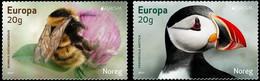 Norway, Europa 2021, Endangered National Wildlife, MNH Stamps Set - Nuovi
